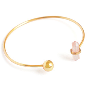 ROSE QUARTZ STONE STACKABLE CUFF Bracelet By Ikka Dukka Studio Pvt Ltd