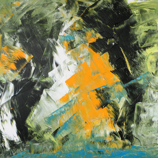 The Last Door by Bharat Thakur, Abstract Painting, Acrylic on Canvas, Beige color