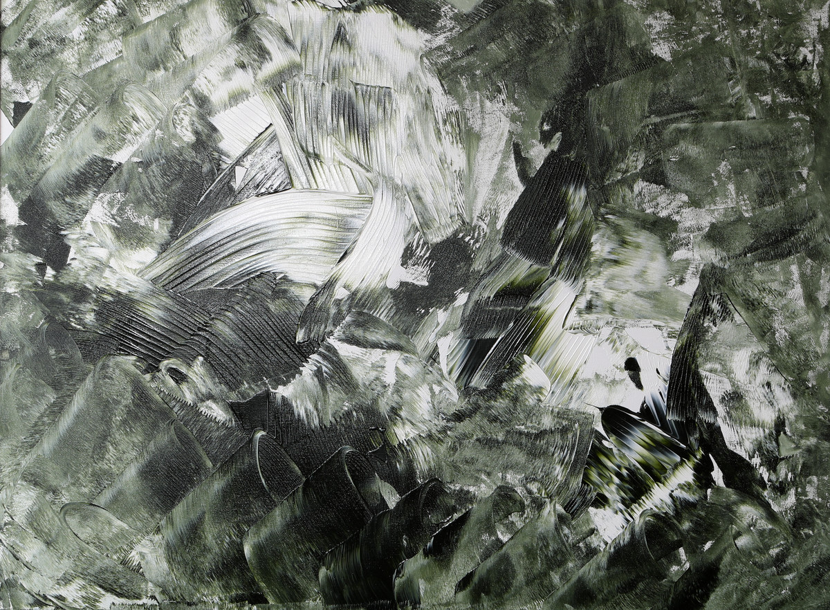 Midnight Spell by Bharat Thakur, Abstract Painting, Acrylic on Canvas, Gray color