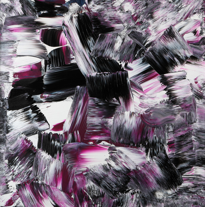 Swept Away by Bharat Thakur, Abstract Painting, Acrylic on Canvas, Gray color