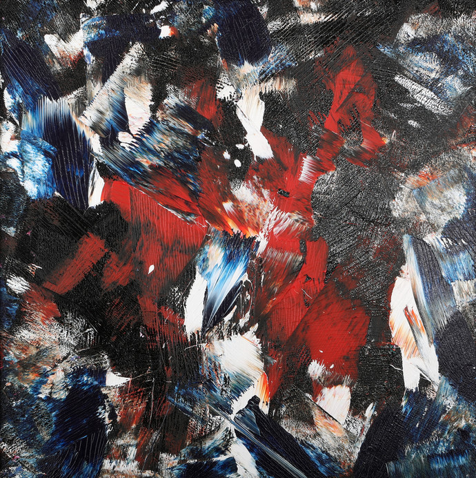 Red Earth by Bharat Thakur, Abstract Painting, Acrylic on Canvas, Gray color