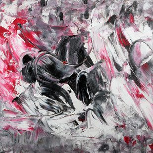 Cloaked Angel by Bharat Thakur, Abstract Painting, Acrylic on Canvas, Gray color