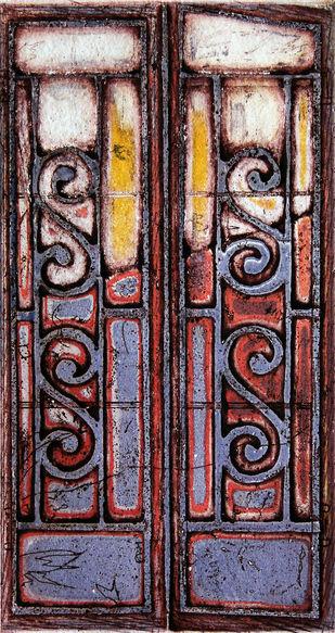 SHADOWS - 1 by Tapan Madkikar, Art Deco Printmaking, Etching on Paper, Brown color