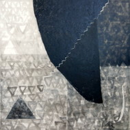 untitled by Arpita Yogesh Pawar, Geometrical Painting, Acrylic on Canvas, Gray color
