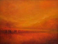 Dawn Digital Print by Zargar Zahoor,Impressionism