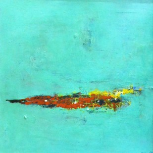 untitled by Shreya Shailee, Abstract Painting, Acrylic on Board, Cyan color