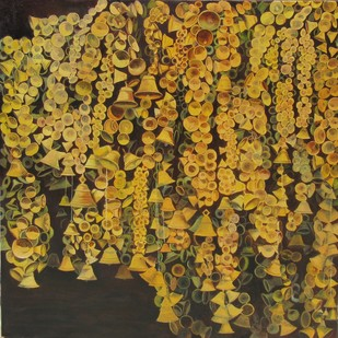 Thousand Hopes2 by Pankhi Saikia Nath, Realism Painting, Oil on Canvas, Brown color