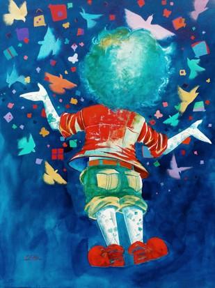 Dreams of the childhood Digital Print by shiv kumar soni,Expressionism