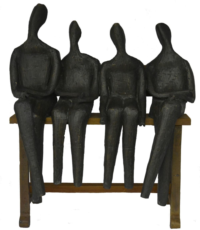 Untitled by Chandan Roy, Art Deco Sculpture | 3D, Bronze, Gray color