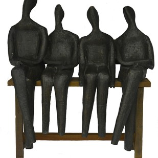 Untitled by Chandan Roy, Art Deco Sculpture | 3D, Bronze, Gray color