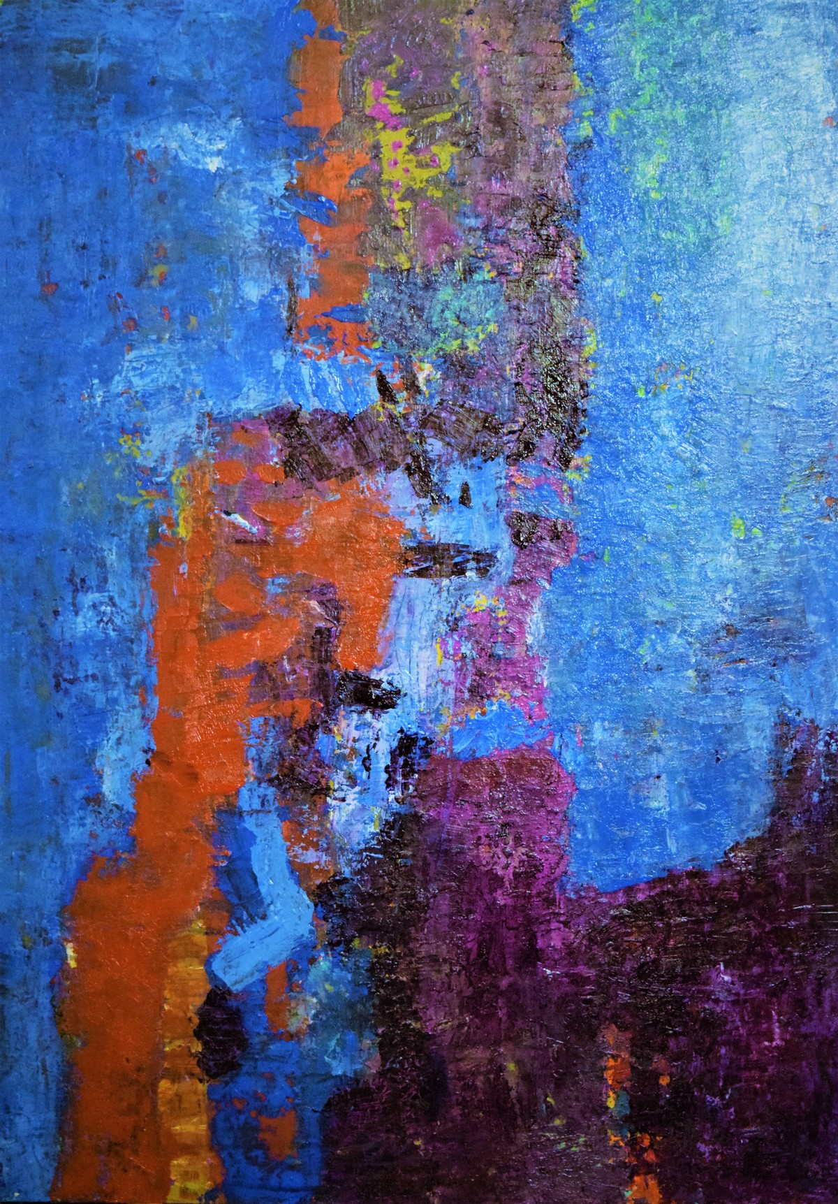 UNTITLED by Shreya Shailee, Abstract Painting, Acrylic on Board, Blue color