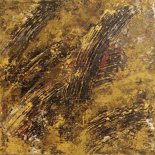 Untitled by Saravana Kumar, Abstract Painting, Mixed Media on Canvas, Brown color