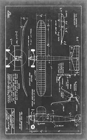 Aeronautic Blueprint VII Digital Print by Vision Studio,Geometrical