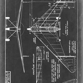 Aeronautic Blueprint V Digital Print by Vision Studio,Geometrical