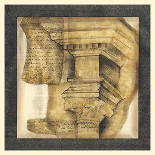Antique Capitals IV Digital Print by Goldberger, Jennifer,Geometrical
