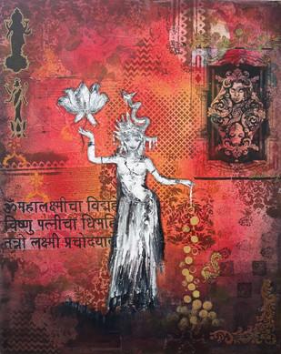 Goddess of wealth II Digital Print by Sheetal Singh,Expressionism