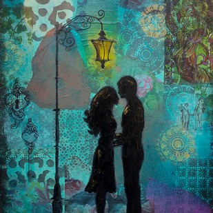 Tryst Digital Print by Sheetal Singh,Expressionism