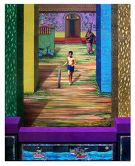 'COURTYARD OF MEMORIES'22nd by Santhosh Andrade , Photorealism Painting, Acrylic on Canvas,