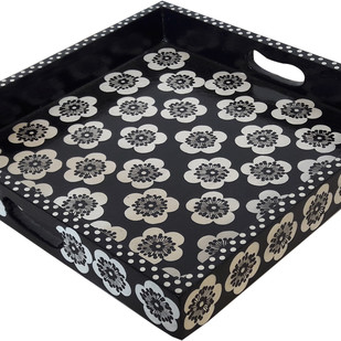 Floral Tray Serveware By Hands of Gold
