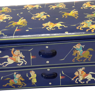 Polo Drawer Box Decorative Container By Hands of Gold