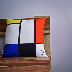 De Stijl Abstract Line Pop Art Cushion Cushion Cover By The Black Steel