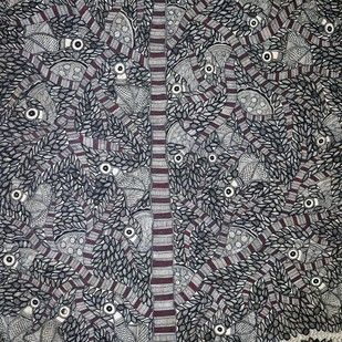 Madhubani Painting by Unknown Artist, Traditional, Traditional Painting, Acrylic on Paper,