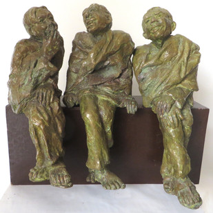 Adda by Debabrata De, Art Deco Sculpture | 3D, Bronze, Brown color