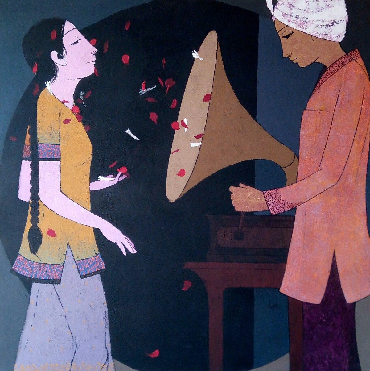Inner voice by Rahul Mhetre, Expressionism Painting, Acrylic on Canvas,