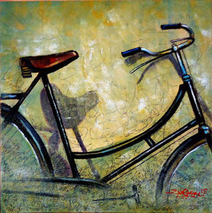 SAVE ME by Ram Kumar Maheshwari, Realism Painting, Acrylic on Canvas, Green color