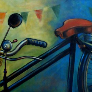 CELEBRATION by Ram Kumar Maheshwari, Realism Painting, Acrylic on Canvas, Green color
