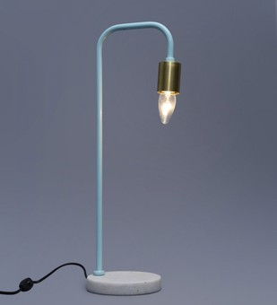 The Brighter Side Luna skyblue table lamp Table Lamp By The Brighter Side