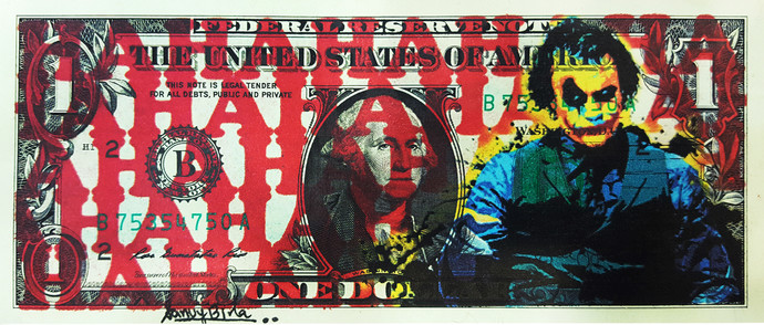 REAL ONE DOLLAR ART SERIES 2.0 by Sanuj Birla, Pop Art Digital Art, Mixed Media, Brown color