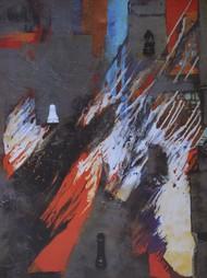 Untitled by Anita Vilas Kulkarni, Abstract Serigraph, Serigraph on Paper, Gray color