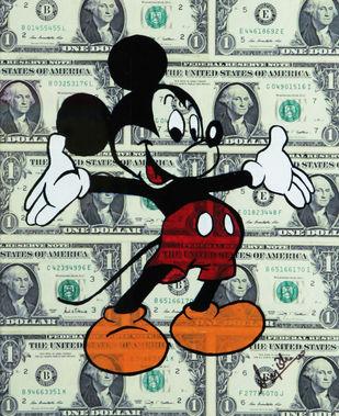 DOLLAR MICKEY (Real 1 Dollar Note) Artwork By SANUJ BIRLA