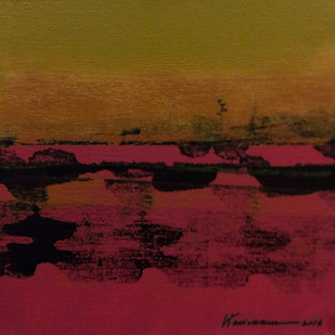 STELLAR MEMORIES 79 by V .Hariraam , Abstract Painting, Acrylic on Canvas, Brown color