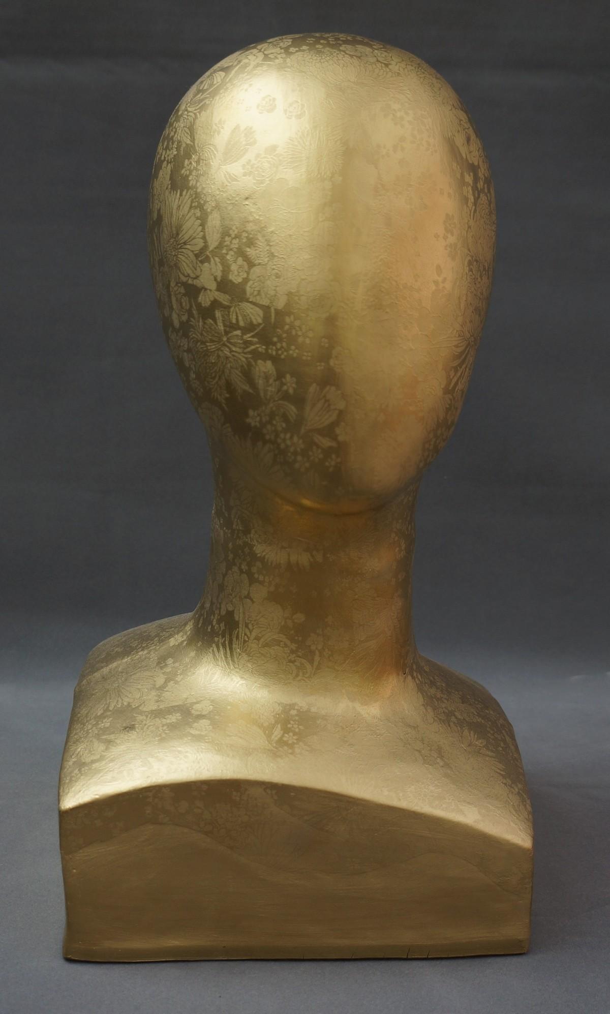 Timeless 1 by Usha Garodia, Art Deco Sculpture | 3D, Ceramic, Beige color