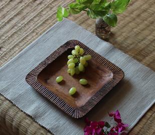 mango wood platter Platter By TARU