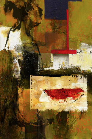 untitled by Gopal Mehan, Abstract Painting, Oil on Canvas, Brown color