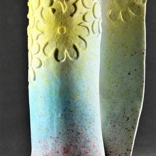 ABUNDANCE 2 by Usha Garodia, Art Deco Sculpture | 3D, Ceramic, Gray color