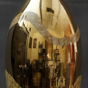 ECSTACY by Usha Garodia, Art Deco Sculpture | 3D, Ceramic, Brown color