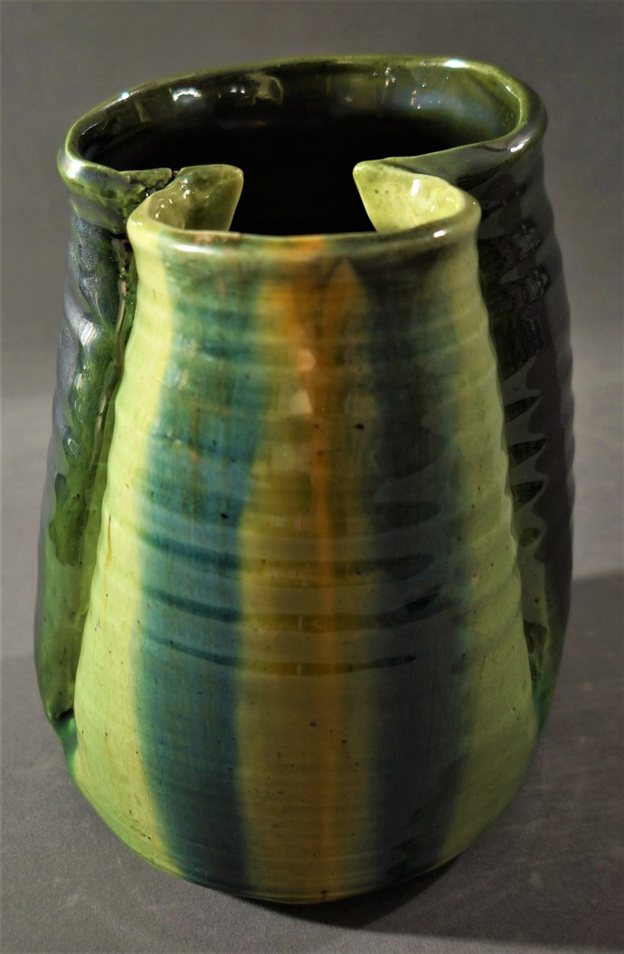 I AM YOU REFLECTION by Usha Garodia, Art Deco Sculpture | 3D, Ceramic, Green color