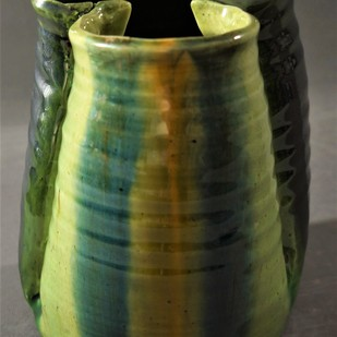 I AM YOU REFLECTION by Usha Garodia, Art Deco Sculpture | 3D, Ceramic, Green color