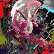 BALLET EXPLOSION 2.0 by Sanuj Birla, Digital Digital Art, Digital Print on Canvas, Brown color