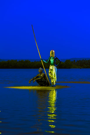 SUBORDINATION by Sandeep Dhopate, Image Photography, Giclee Print on Hahnemuhle Paper, Blue color