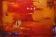 The Colour of our Nature by Krupa Shah , Abstract, Abstract Painting, Oil on Canvas, Red color