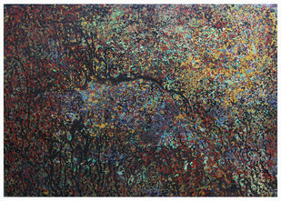 Mindscape-III by Aditi Chakravarty, Abstract Painting, Acrylic on Canvas, Gray color
