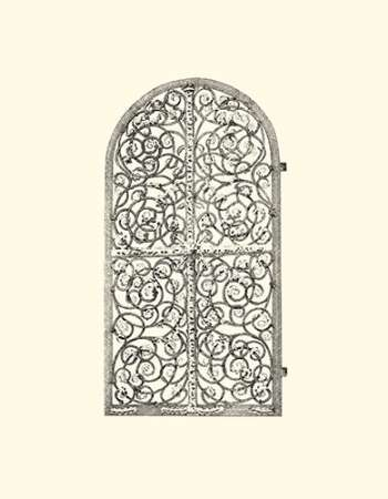 B-W Wrought Iron Gate VI Digital Print by Unknown,Decorative