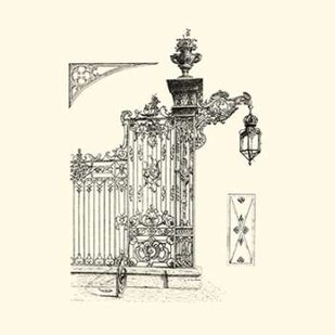B-W Wrought Iron Gate IV Digital Print by Unknown,Decorative