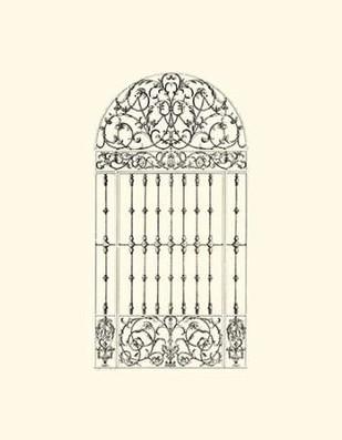B-W Wrought Iron Gate III Digital Print by Unknown,Decorative