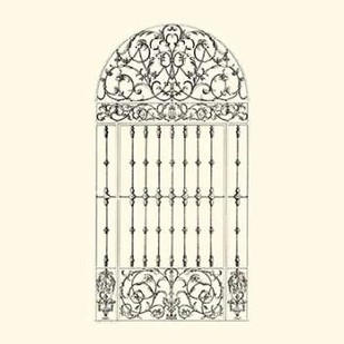 B-W Wrought Iron Gate III Digital Print by Unknown,Decorative